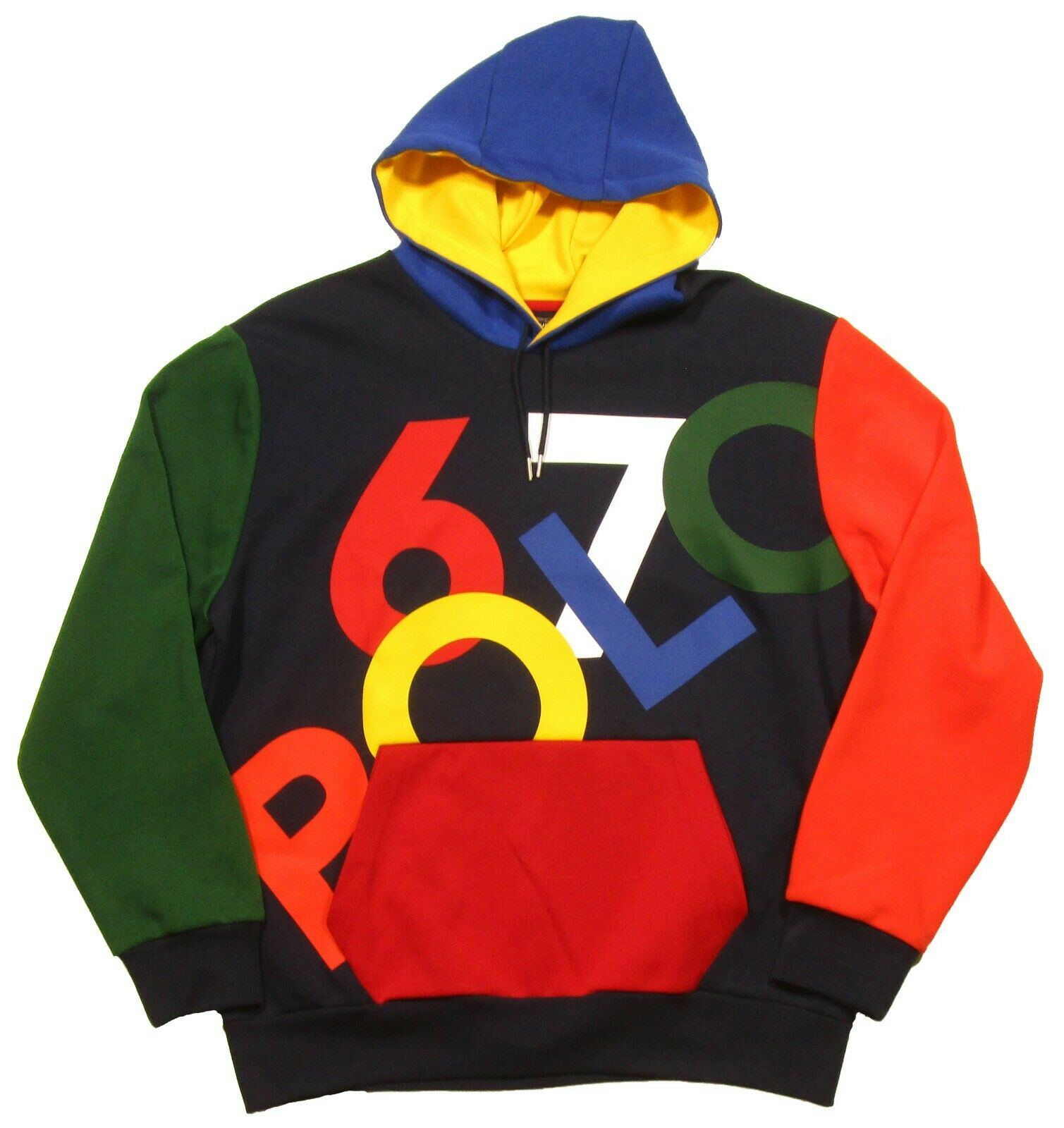 Polo Sport Ralph Lauren Men's Cruise Navy Double Knit Graphic Pullover Hoodie