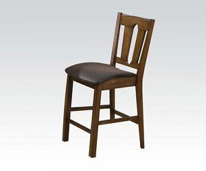 Modern-Dining-Furniture-Back-Design-Set-Of-2-Counter-Height-Chair-Oak-PU-Finish