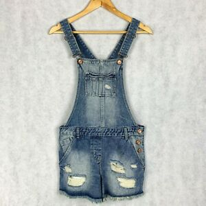 good texture buy sale for whole family Details about Papaya Matalan Short Denim Dungaree Size UK 8