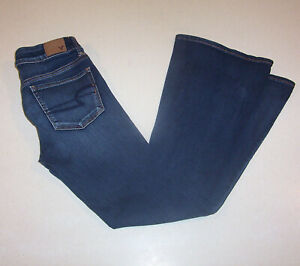 Women-039-s-American-Eagle-Outfitters-Stretch-Flare-Low-Rise-Denim-Jeans-4-Short