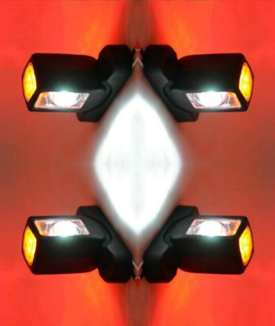 Pair of LED 1005RWM Rubber End Outline Side Marker Lamps Red White Amber 12//24V
