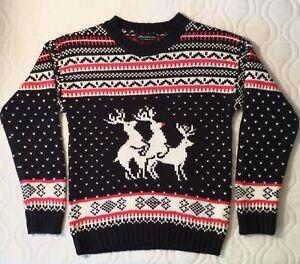 2f25373b5dfafc Image is loading Funny-UGLY-CHRISTMAS-SWEATER-Reindeer-Xmas-Santa-Knit-
