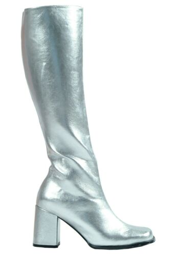 WOMEN'S SILVER GOGO COSTUME BOOTS SIZE US 8 (Used)