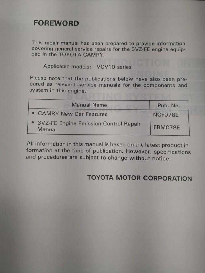 (25)Motorbog, Toyota Camry motorbog