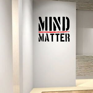 Mind Over Matter Gym Wall Decal Quote Boxing Healthy Hiit Wrestling