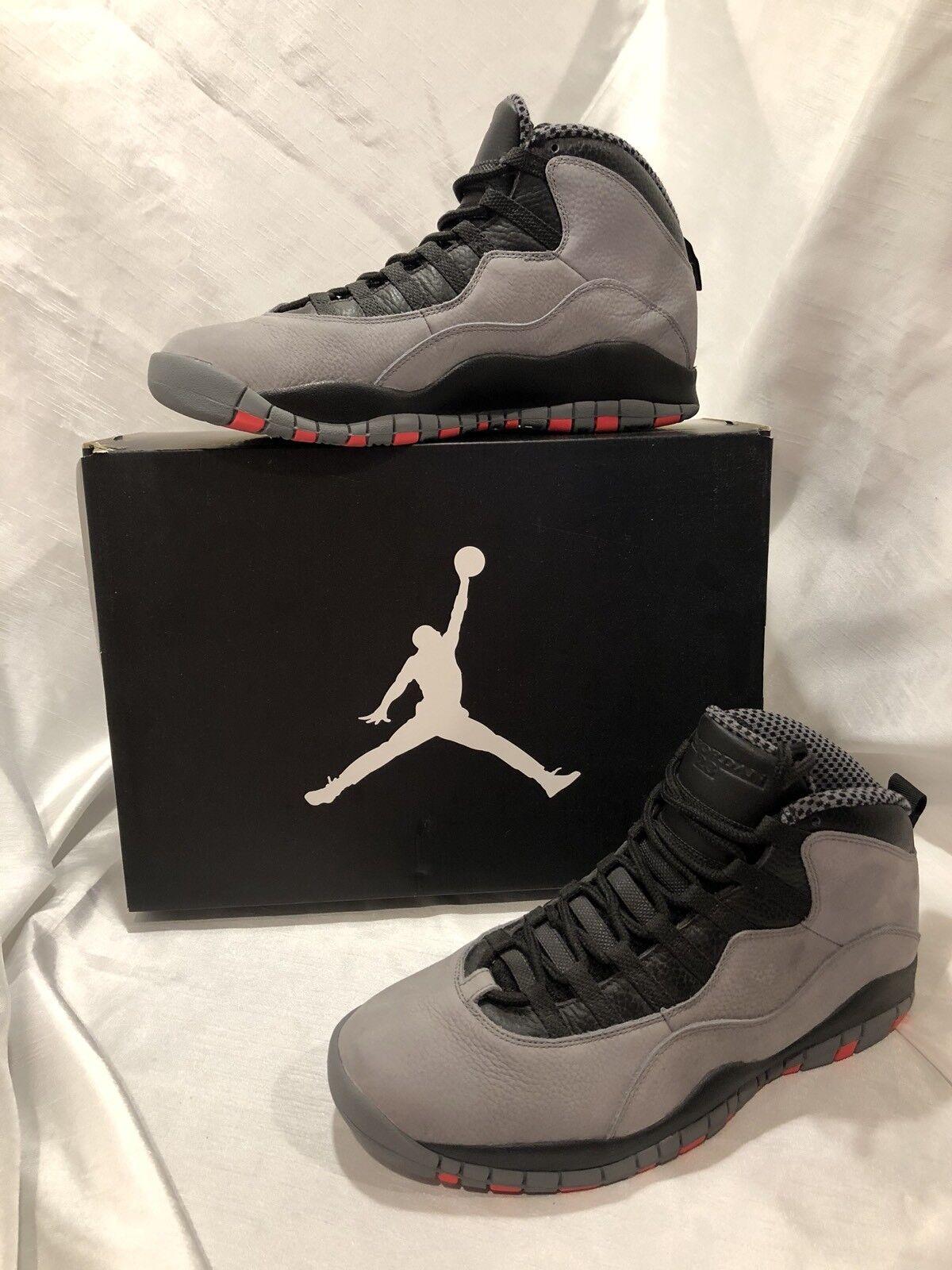 Mens Air Jordan 10 Retro Size 11 Black Gray