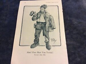Antique-Book-Print-Alas-Poor-Herr-Von-Yorick-WWI-1917