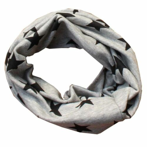 Cute Winter Baby Warm Star Striped Scarf Kid Boy Girl Cotton O Ring Neck Gaiter