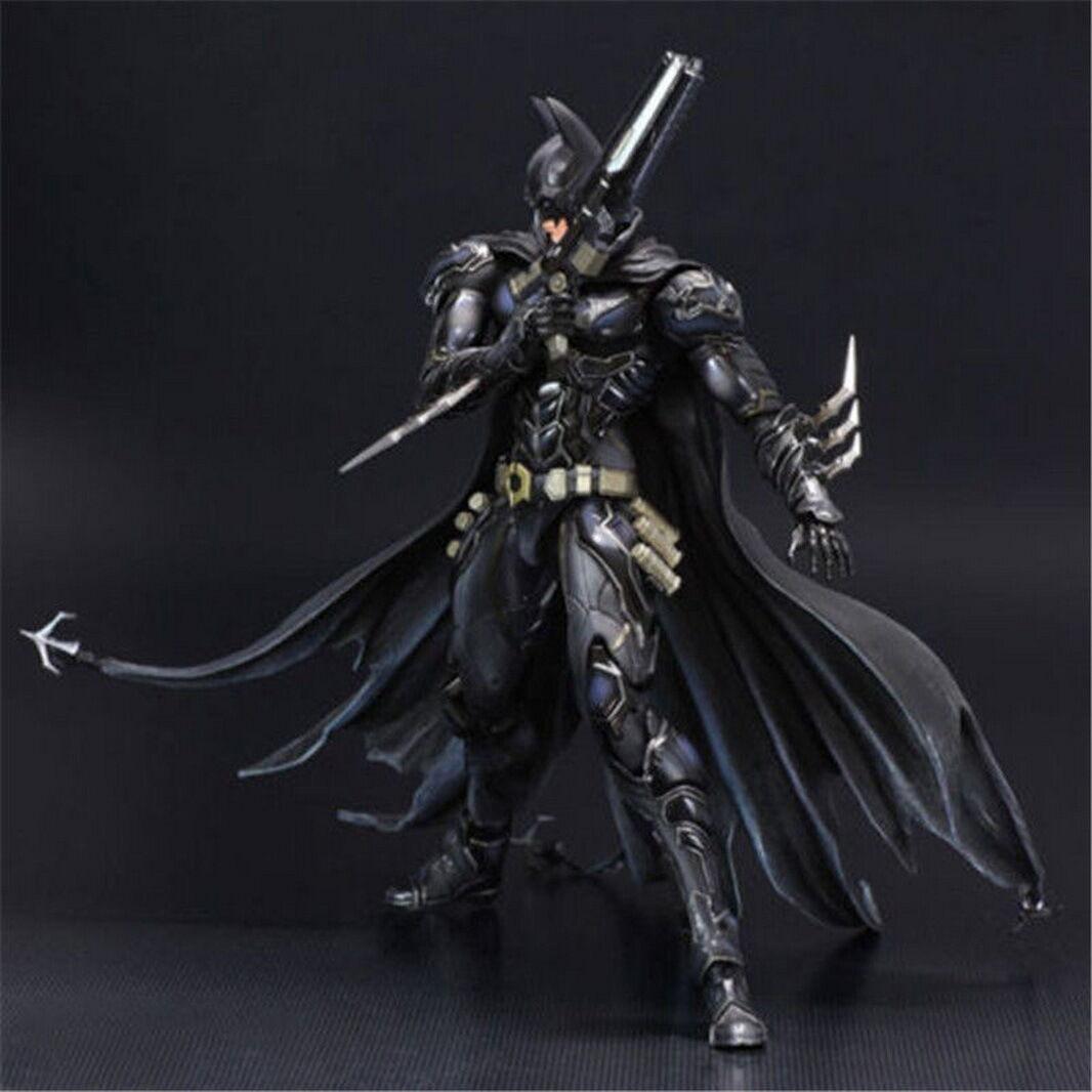 Play Arts Kai Batman Arkham Dark Knight Action Figure Toy Doll Model Display