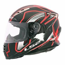 LS2 Helmets - FF302 - Space Black Red - Full Face Dual Visor Motorcycle Helmet