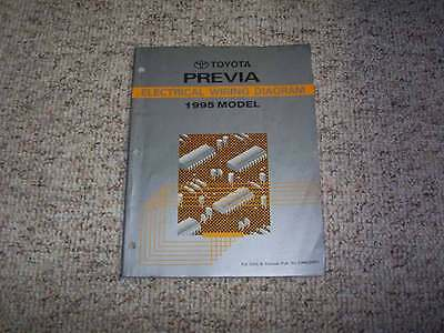 1995 Toyota Previa Van Electrical Wiring Diagram Manual LE ...