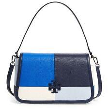 NWT Tory Burch Britten  BLUE Patchwork Leather Shoulder Bag $495