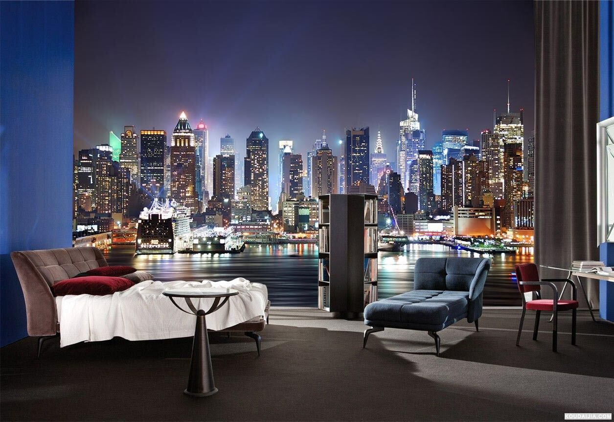 3D City Light Night 669 Wall Paper Wall Print Decal Deco Indoor Wall Mural CA