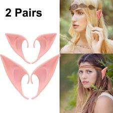 FLESH COLOUR FANCY DRESS ACCESSORY ELF//PIXIE EARS HALLOWEEN #US