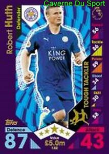 132 Robert HUTH GERMANY LEICESTER CITY.FC CARDS PREMIER LEAGUE 2017 TOPPS U0nfZkgT-09100828-114437468