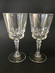 2-Vtg-Lady-Victoria-Fine-Crystal-Stemware-Chantelle-6-oz-Wine-Glasses-France