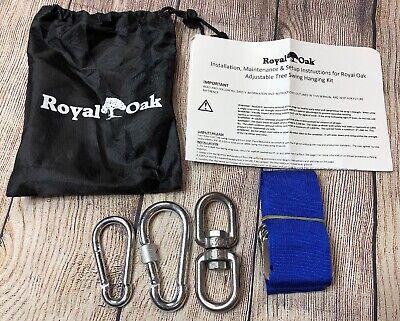 Royal Oak Black Tree Swing 1 Strap Heavy Duty Tire Swing Holds 2200 lbs 4Ft
