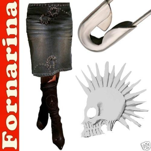 Punk emo USATO MODA nieten-cult Gonna Jeans W28 D    3 6 m b09a95