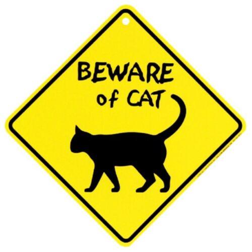 Beware of Cat Crossing Xing Sign New