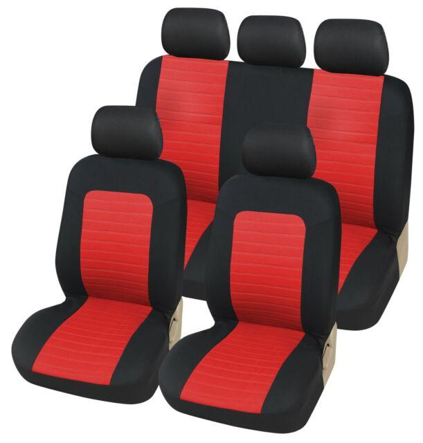 Komplettsatz Schonbezüge Sitzbezüge Rot Schwarz Komfort Hochwertig für Opel Seat