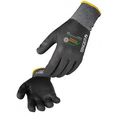 1 x Pair Wet Grip Nitrile Grip Polymer Dots Work Gloves sz 8-10 (M-XL)