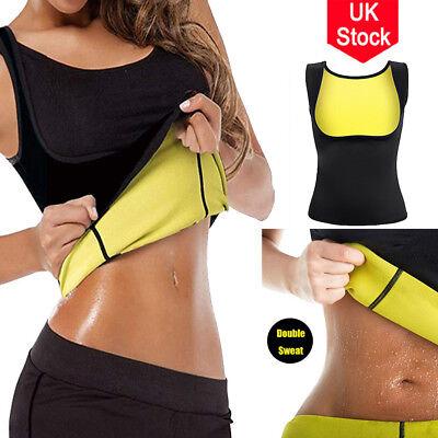 UK Hot Sweat Sauna Body Shaper Women Slimming Thermo Neoprene Waist Trainer
