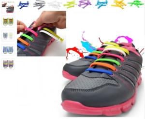 Colored No Tie Elastic Shoe Laces 100