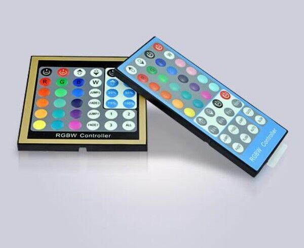 RGB (W) LED-controller muro insDimensionezione-Panel insDimensionezione-Panel insDimensionezione-Panel + Radio RGBW telecomando 12-24v RGB-W 81727c