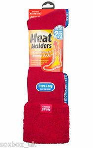 Ladies-Wellington-Boot-Gardening-Heat-Holder-Socks-4-8-Uk-37-42-Eur-Ruby-Red