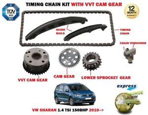 Para-VW-Sharan-1-4-TSI-150BHP-2010-gt-Cadena-Transmision-Kit-Tensionador-Vvt