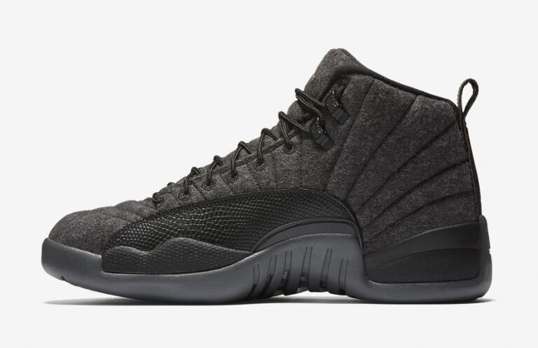 Nike MEN'S AIR JORDAN 12 Retro Wool Dark Grey Grey Grey Metallic Silver SIZE 16 BRAND NEW 9e7337