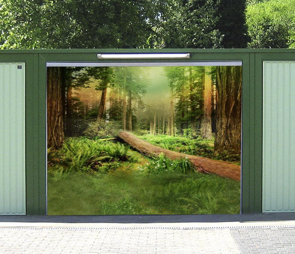 3D Foresta Legno 2 Garage Porta Stampe Parete Decorazione Murale AJ WALLPAPER IT