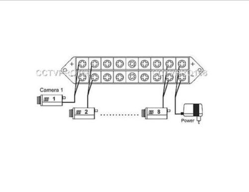 10PCS 8 Way Terminal Block Bus Bar Splits 1 Input to 8 Out Wholesale
