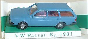 Taubenblau-vw-passat-BJ-1981-Mesureur-EUROMODELL-11021-h0-1-87-OVP-HO-1-a