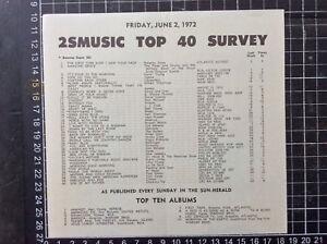2SM-TOP-40-POP-MUSIC-CHART-2nd-June-1972-record-shop-flier-Neil-Young-Harvest