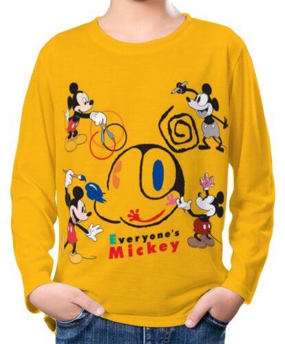 Mickey Mouse Boy Kid Long Sleeve T-Shirt Tee Age 3-13 ael30115