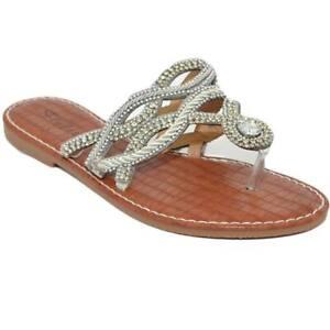 Sandalo argento gioiello infradito con intreccio forma serpente con suola antisc