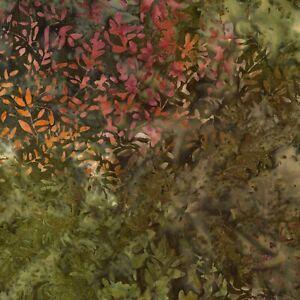 Tonga-Batik-Fabric-B5951-Forest-Vine-Green-Brown-Timeless-Treasures-YARD