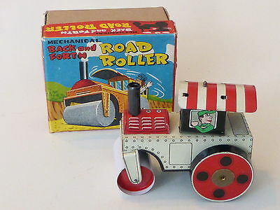 100% Wahr Mechanical Back And Forth Road Roller Blech Walze 50er Jahre In Box Japan Tintoy Angenehm Zu Schmecken