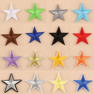 10-50PCS-Star-Shape-Embroidery-Sew-Iron-On-Patch-Badge-Clothes-Applique-Fabric