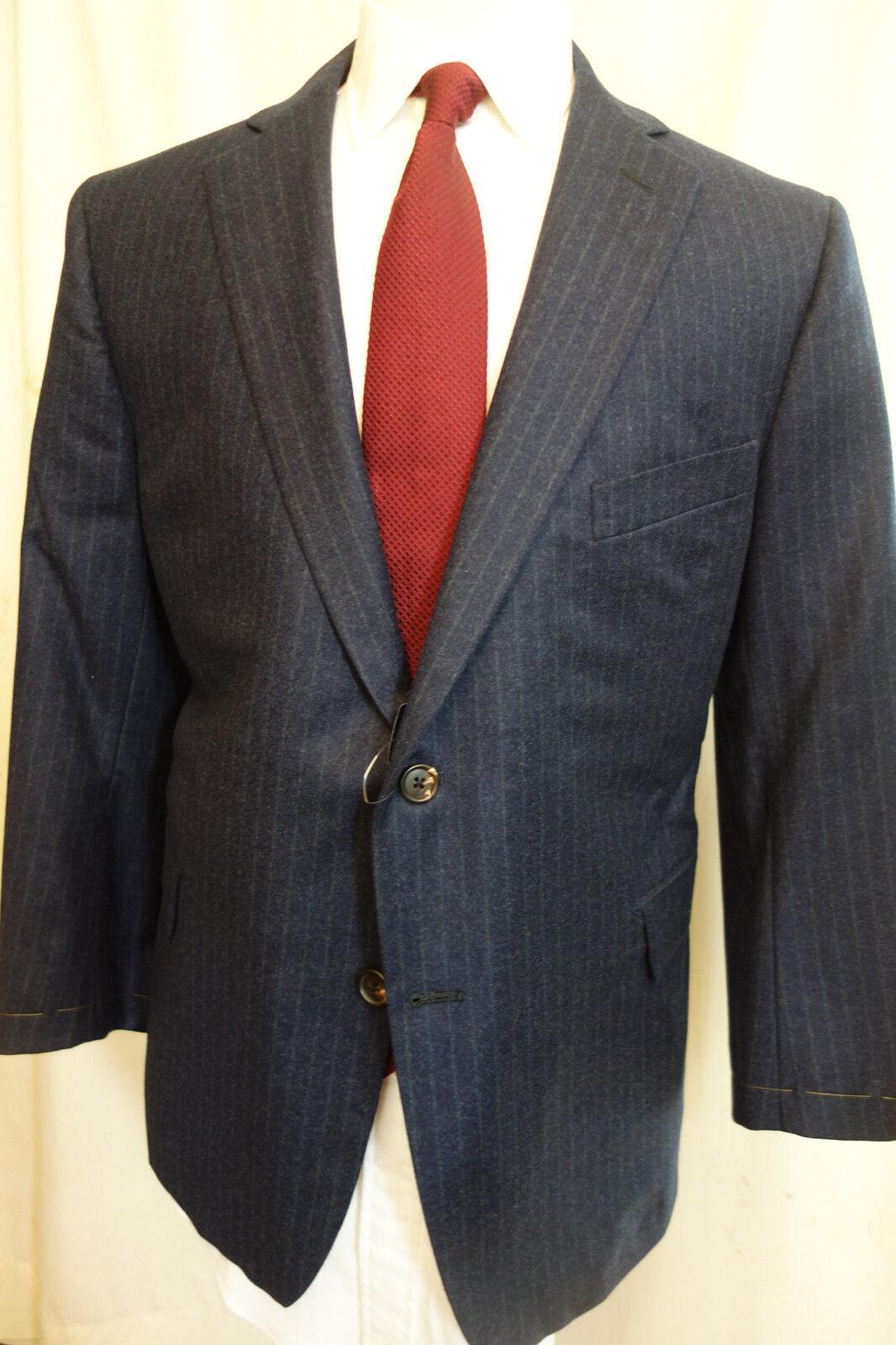 NWOT Brooks Brothers Golden Fleece Blau Chalk Stripe Sport Coat 44S