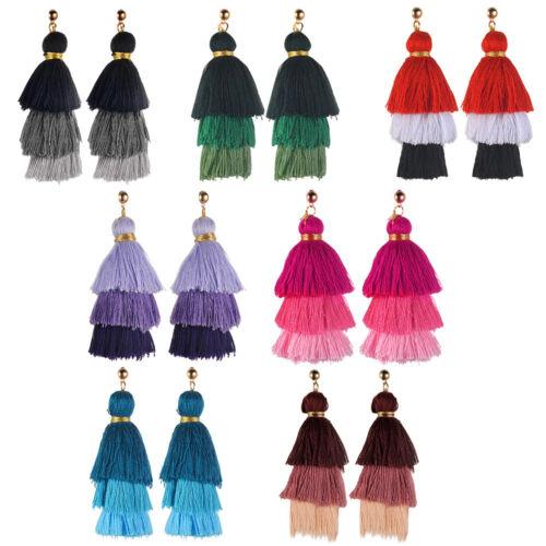 Fashion Bohemian Earrings Long Tassel Fringe Women Boho Dangle Earrings Jewelry