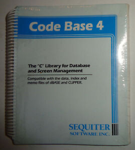 CODE-BASE-4-034-C-034-Library-for-Database-and-Screen-Management-BRAND-NEW-SEALED