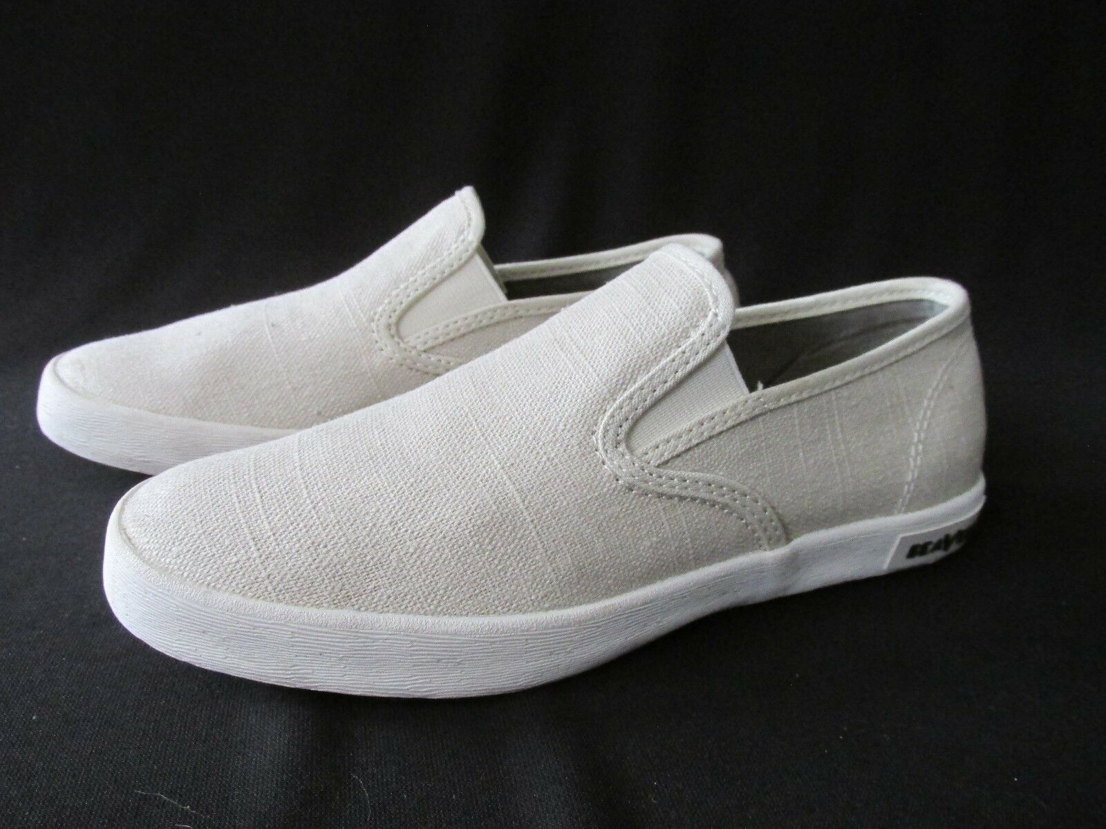 femme Chaussures Casual On Slip Naturel Lin Seavees 5