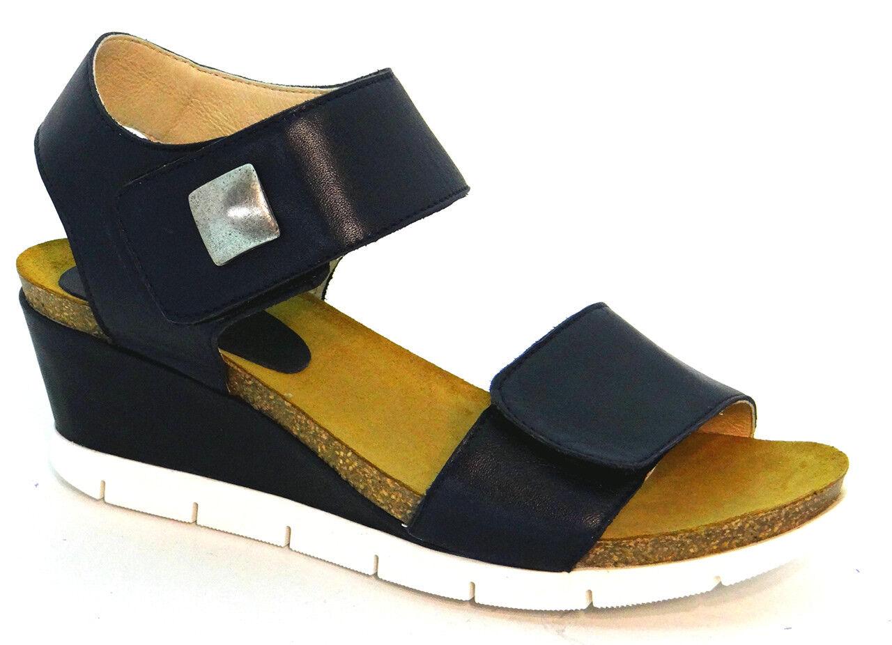 Zapatos de piel azul Rimini OGS Ancho Sandalias 3E anchura extra ancho (D)