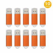 US Stock 10PCS Rectangle 8GB USB Flash Drive Enough Memory Stick Thumb Pen Drive