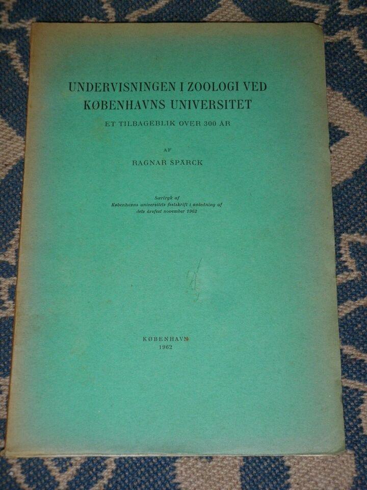 Undervisning i Zoologi ved Københavns universitet,