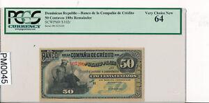 Dominicaine-Republique-50-Centavos-PCGS-Ms-64-188x-S102r-Combiner-PM0045-C