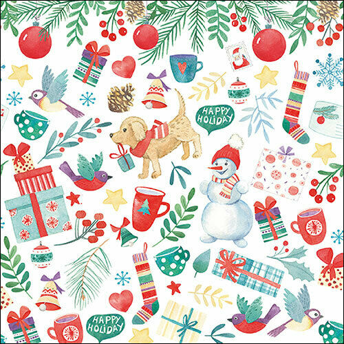 Papierservietten Servietten Herbst Winter Weihnachten ca 33x33cm Geschenk Deko