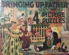 """Vintage 1933 """"BRINGING UP FATHER IN 4 PICTURE PUZZLES"""" BOXED SET."""